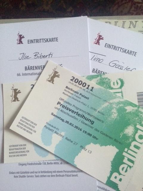 Einladung Preisverleihung, Berlinale 2016