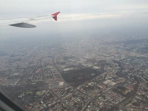Berlin aus dem Flugzeug nach Wien